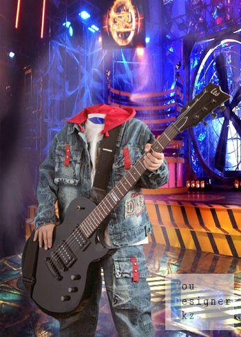 Детский шаблон - Гитарист