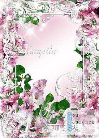 Рамка для фото - с гладиолусами / Photo frame - with gladioluses