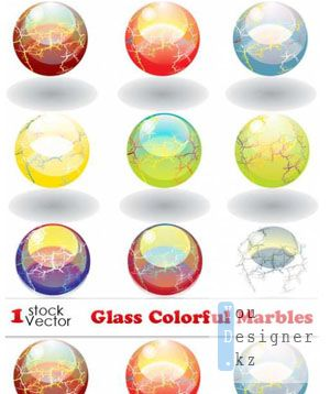 Glass Colorful Marbles Vector