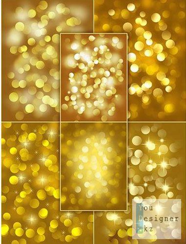 Gold Bokeh backgrounds / Золотые фоны Боке