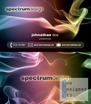 Спектр дизайн визиток (бизнес карт) / Spectrum design Business Card