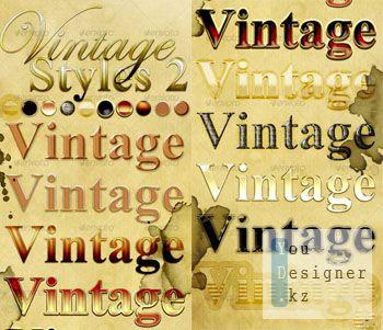 Винтажные стили для фотошопа / Vintage Photoshop Styles 2