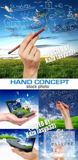 Фото сток: Концепция / Hand concept