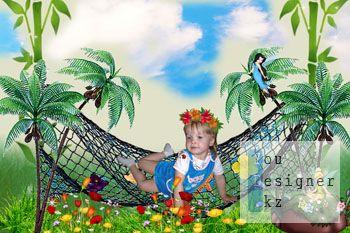 Детский шаблон для фотошоп