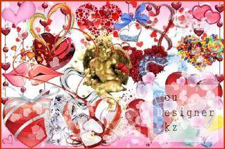 Клипарт - Симпатичные сердечки / Clipart - Cute hearts