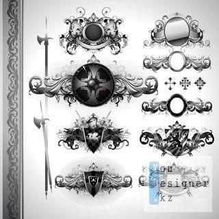Векторные геральдические эмблемы / Heraldic emblems vektor