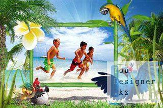 Рамка для фотошоп - Незабываемый отдых на море / Frame for photoshop - an Unforgettable holiday on the sea