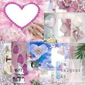 Рамочки для свадебного альбома №4