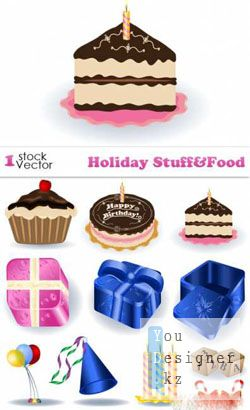 Holiday Stuff & Food Vector