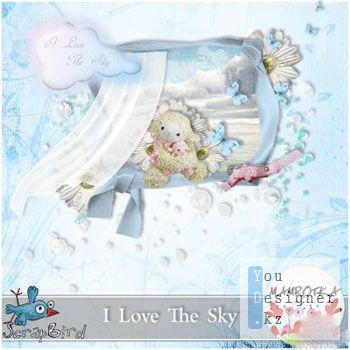 Мини скрап-набор Я люблю небо / Mini Scrap kit - I Love The Sky