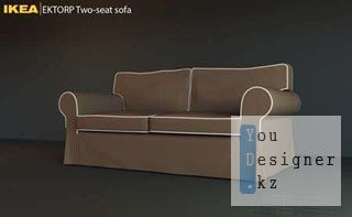IKEA EKTORP Two-seat Sofa / ИКЕА - софа - 3DMax 2009 Model