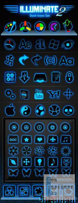 Иконки Illuminate Dock icon Set