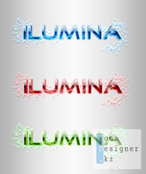 Стили для фотошоп - Ilumina Glowing Text Styles