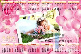 Календарь на 2012 год - Роза символ красоты / Calendar for year 2012 - Rose - a symbol of beauty