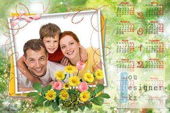 Календарь на 2012 год – Бабочка в цветах / Сalendar for 2012 - a Butterfly in colors