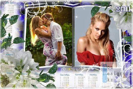 Календарь на 2011 год с подснежниками