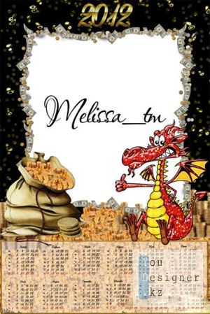 Календарь на 2012 год - Год дракона / Calendar for 2012 - the Year of the Dragon