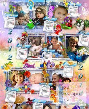 Календарь на 2012 год на 12 фото