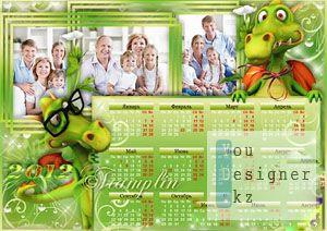 Календарь-рамка на 2012 год с Драконом / Calendar-frame for 2012 with Dragon