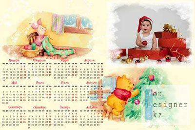 Детский новогодний календарь на 2011г. - Винни Пух