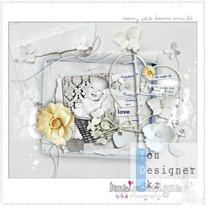 Скрап набор - Сливочные белые сны / Creamy white dreams