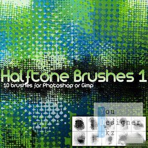 Кисти блеск и полутон / Sparkling and half-tone brushes