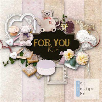Скрап-набор - Для тебя / Scrap Kit - For you