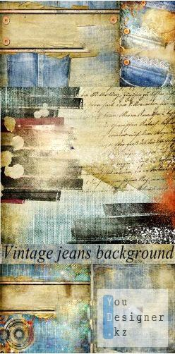 Stock Photo: Vintage jeans background