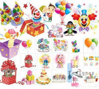 Скрап набор - День рождения / Scrap kit