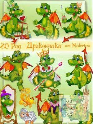 Клипарт. Дракончики - знаки зодиака / Clipart. Dragons are the signs of the zodiac