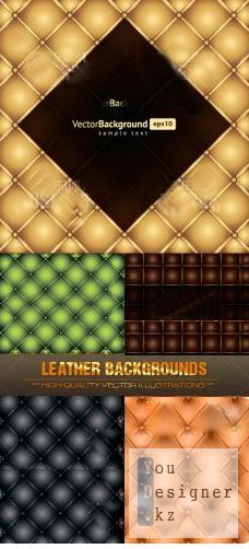 Stock Vector - Leather Backgrounds