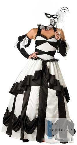 Женский костюм для фотомонтажа - Платье для бала маскарада / Women's costume for the photomontage - Dress for ball masquerade