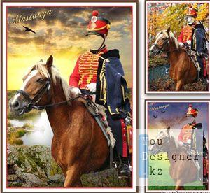 Костюм для монтажа в фотошопе Гусар / Suit for editing in photoshop Hussar
