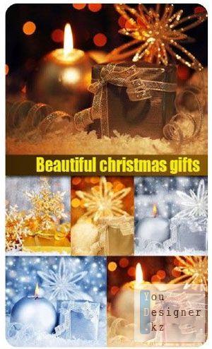 Stock Photo: Beautiful christmas gifts | Красивые новогодние подарки
