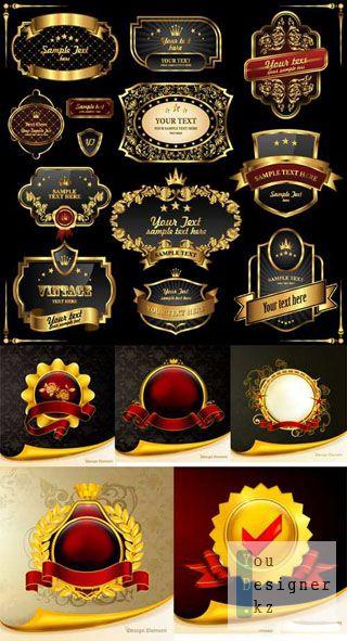 Люксовые золотое лейблы / Luxury golden labels