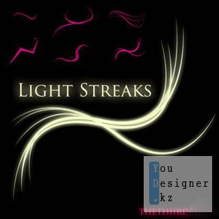 Кисти - росчерки света / Light Streak brushes