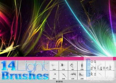 Кисти для Photoshop / Light streak brushes 2010