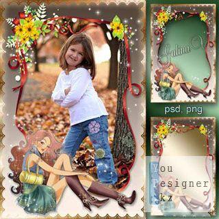 Детская рамка для фото - Маленькая модница