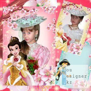 Рамка для фотошопа с принцессами Уолта Диснея