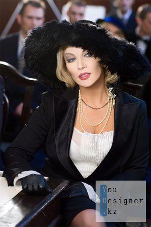 Женский шаблон для фотошопа - Мадам, Вы прекрасны / Women template - Madam, you look beautiful
