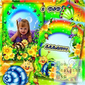 Детские рамки фото - На улице улиточной / Photo Frames - Outdoors snail