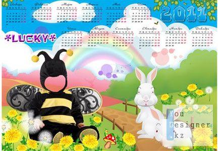 шаблон - календарь 2011