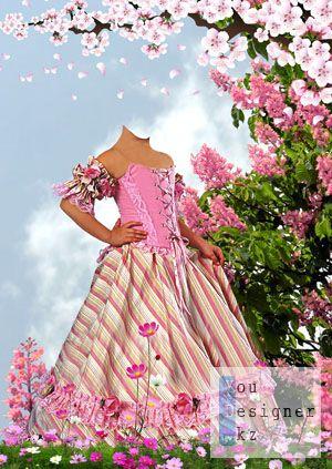 Маленькая принцесса в цветах