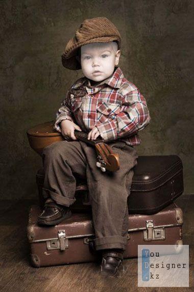 Шаблон для фотошопа - Малыш