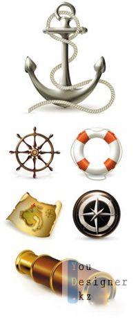 Векторные Морские Элементы / Marine Elements Vector
