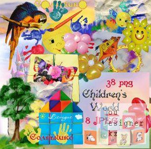 Мини-скрап – Детский мир / Scrap kit - Children's world