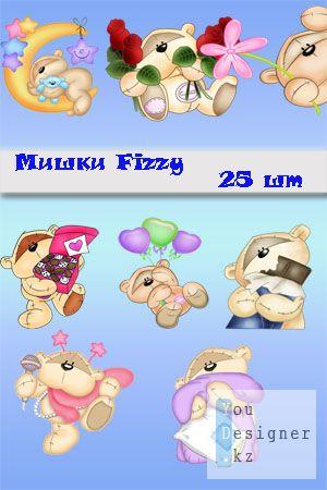 Детский клипарт - мишки Fizzy / Baby clipart - teddy bears Fizzy