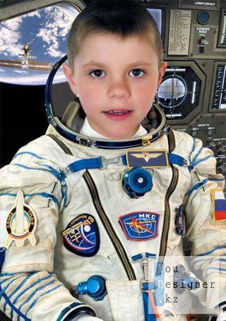 Шаблон для фотомонтажа - Космонавт в МКС / Template for photomontage - ISS astronaut