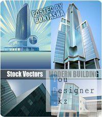Stock Vector: Modern building | Современное здание