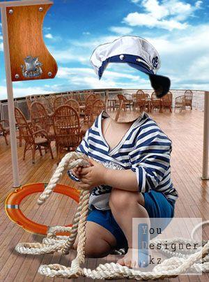 Детский шаблон - Моряк